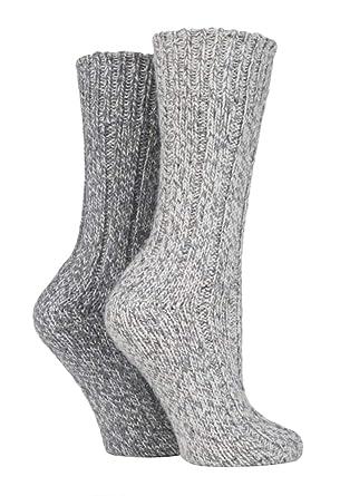 regarder cfec5 fada3 Sock Shop 2 Paires Homme et Femme Gris Epaisse Chaussettes ...