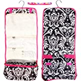Best Selling Damask Hanging Toiletries Cosmetic Makeup Going Back to School Travel Bag Case Dorm Shower Caddy Kit Set Essentials TravelNut® Cool College Supplies Gift Idea Wife Fiance Teen Girl Kid