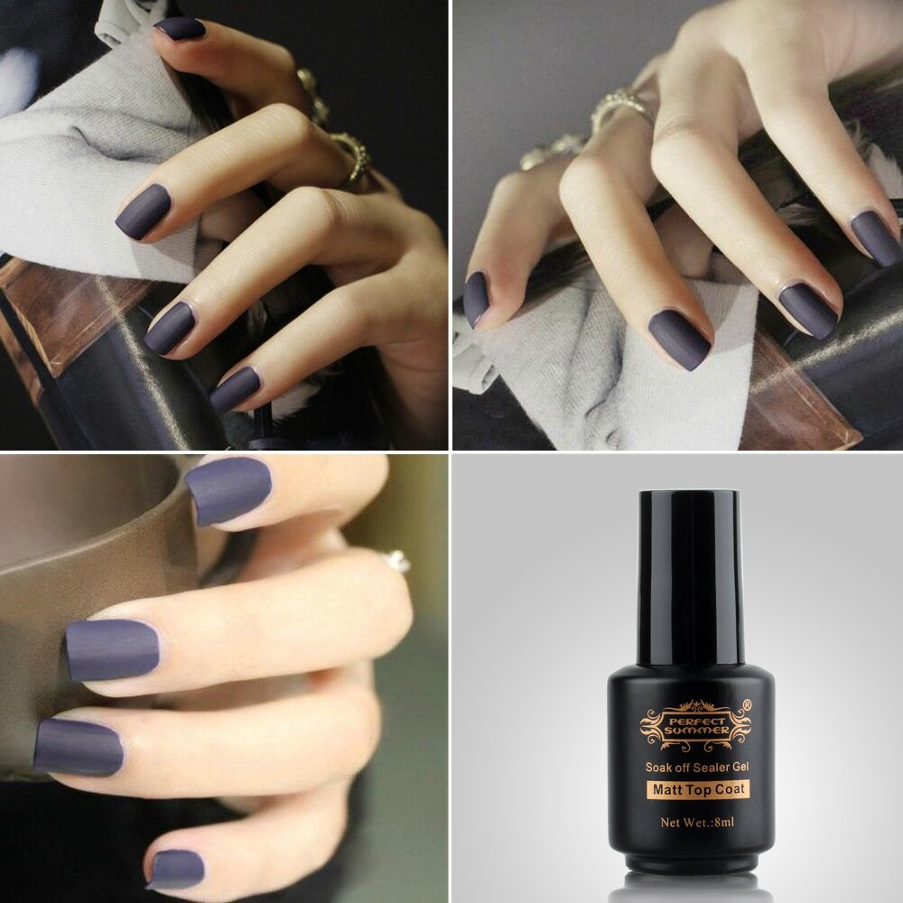 Amazon.com: Perfect Summer Matte Top Coat Gel Nails Polishes 8ml ...