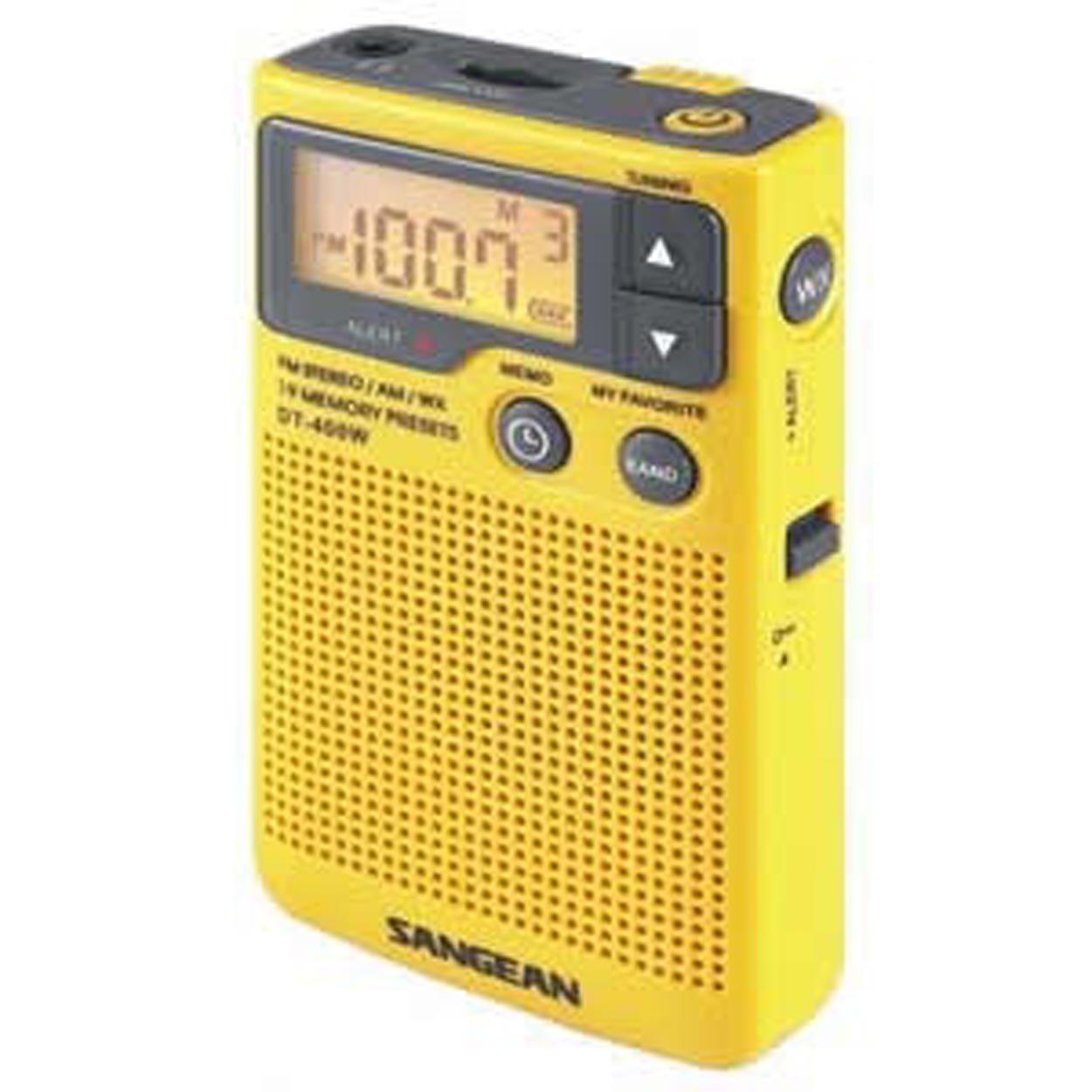 Sangean Am/Fm Digital Weather Alert Pocket Radio by Sangean