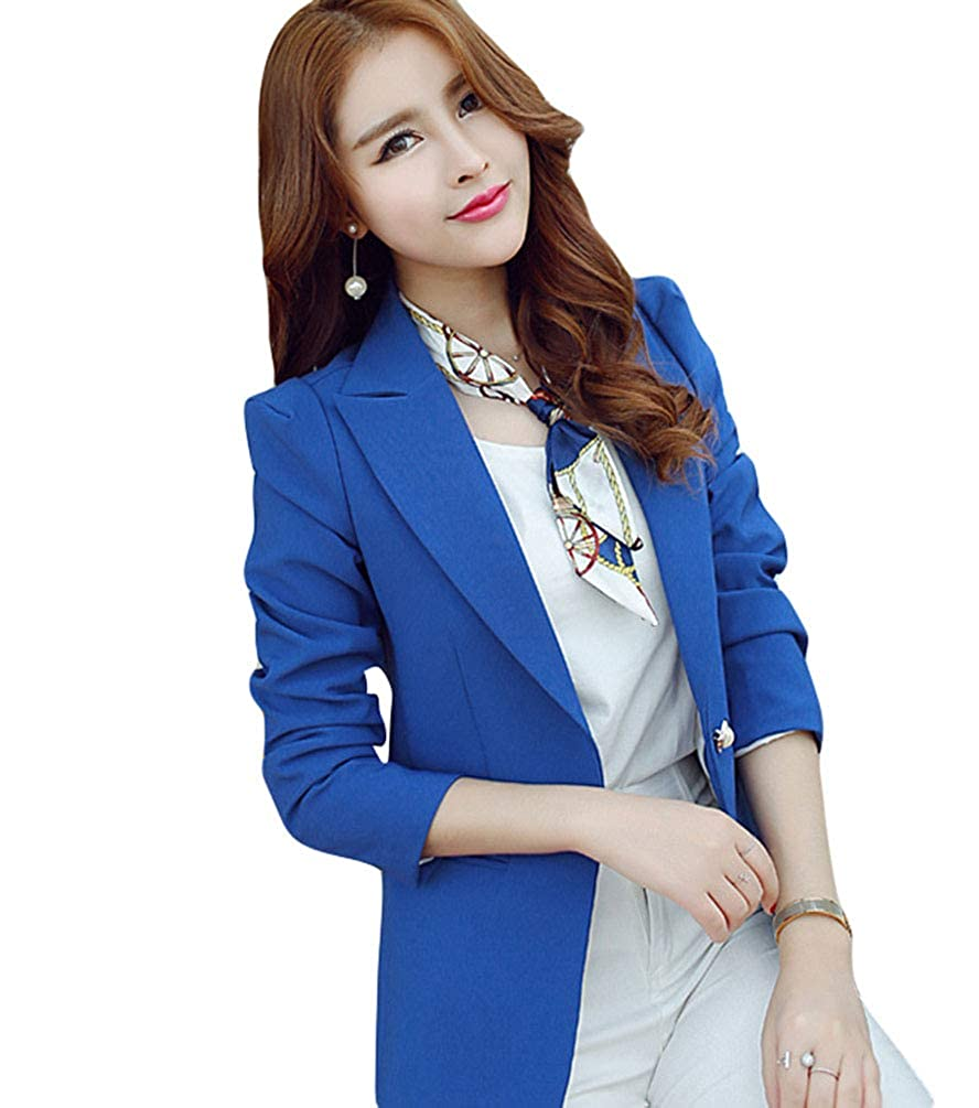 4cd8b5ab6218 Kaiyei Mujer Otoño Primavera Blazers y Chaquetas Trabajo Oficina Dama Traje  Slim Office Blazer Mujer Escudo Mujer