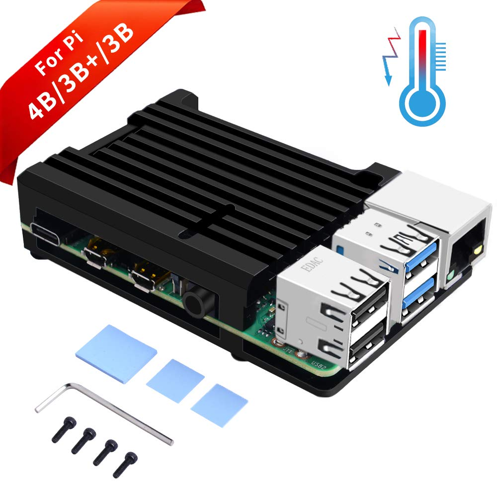 GeeekPi Raspberry Pi 4B Caja, Raspberry Pi Armor Case ...