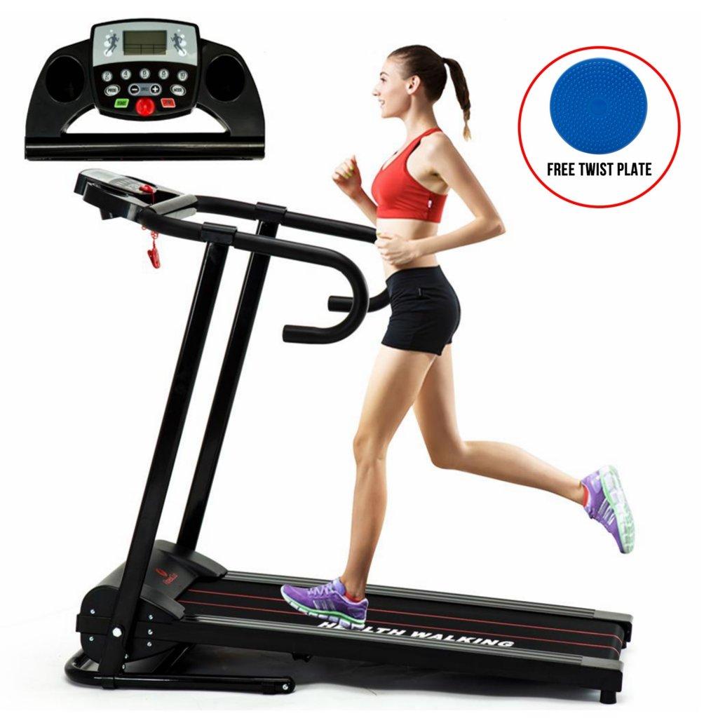 Fitnessclub 1100W Electric Motorized Treadmill Folding Running Gym Fitness Machine Home GYM