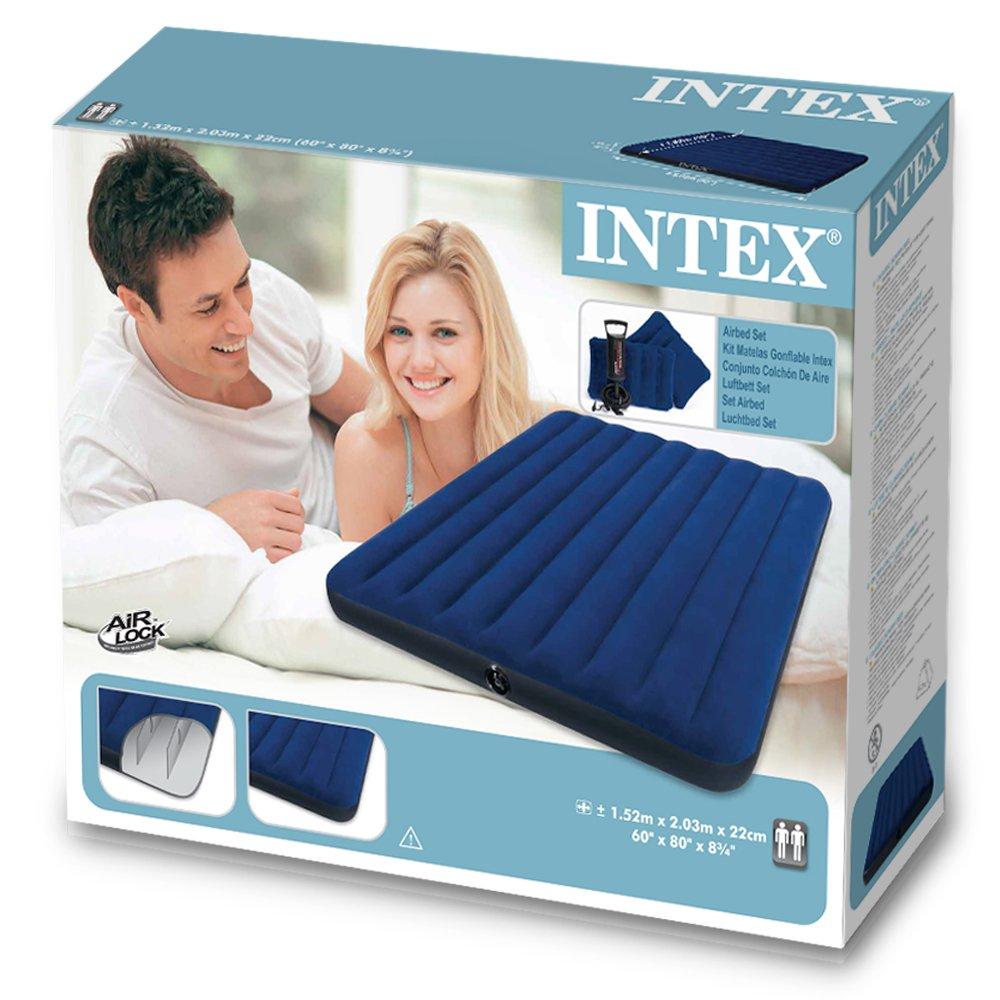 Intex - Juego de Colchón Inflable tamaño queen 2 almohadas e ...