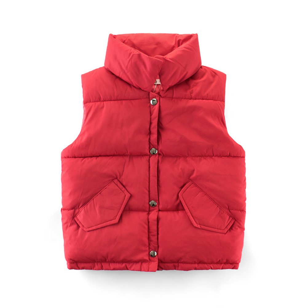 Mallimoda Boys Girls Lightweight Down Vest Puffer Jacket High Neck Waistcoat CA-MaXT063