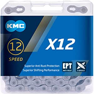KMC Unisex's x12 EPT 12 Speed Chain, Dark Silver, 126 Links