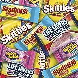 Skittles Original, Starburst Original, Lifesavers Gummies, and Hubba Bubba Candy Assorted Easter Egg Hunt Mix, 155 Piece Bag