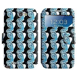 LEOCASE mariposa azul Funda Carcasa Cuero Tapa Case Para Samsung Galaxy Note 2 N7100 No.1003914