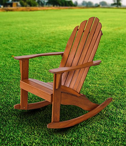 Fullrich Industries Co Wood Adirondack Rocking Chair, Natural by Fullrich Industries Co