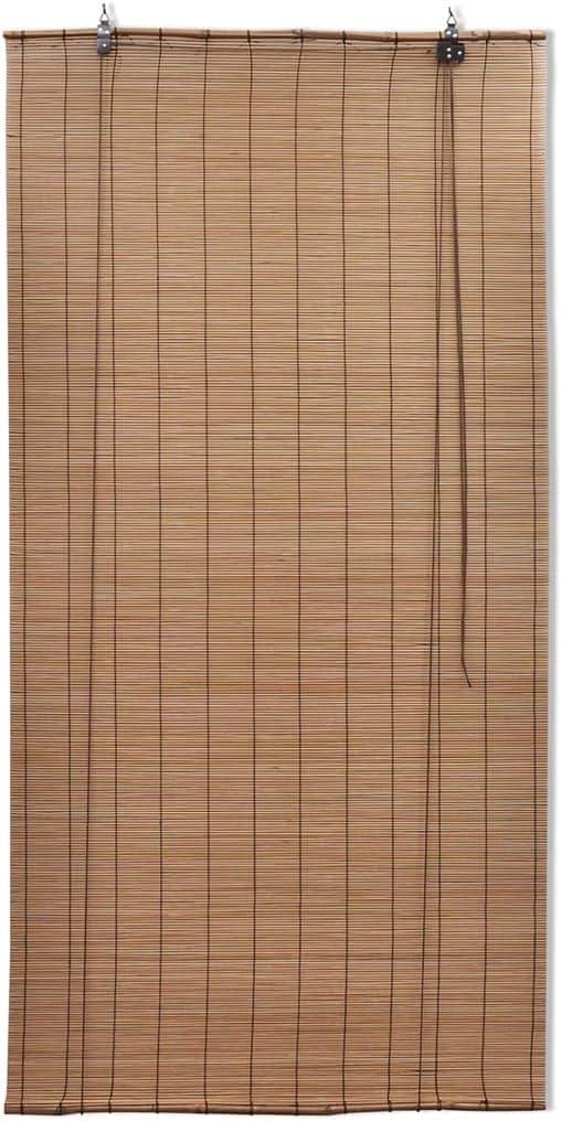 Meubles Dint/érieur Dext/érieur Rideaux en Bambou avec Poussoir NIANXINN Bambou Roll up Stores-Fen/être Stores-Reed Rideaux Pare-Soleil /à la Maison 50x60cm//20x24in Tiss/é /à la Main Personnalisable