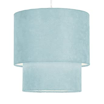 Duck egg bluemint green 2 tier faux suede pendant lamp shade duck egg bluemint green 2 tier faux suede pendant lamp shade mozeypictures