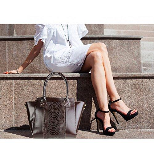 Donna N2900 Mano Olivia A Marrone Cioccolato Borsa 4wIqv1x