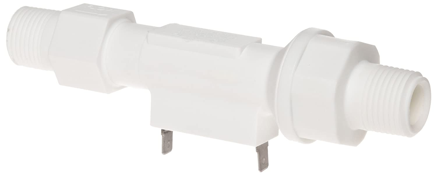 Piston Type 1//2 NPT Male 1 gpm Flow Setting Inline Normally Open Gems Sensors FS-150 Series Polypropylene Flow Switch with Low Pressure Drop