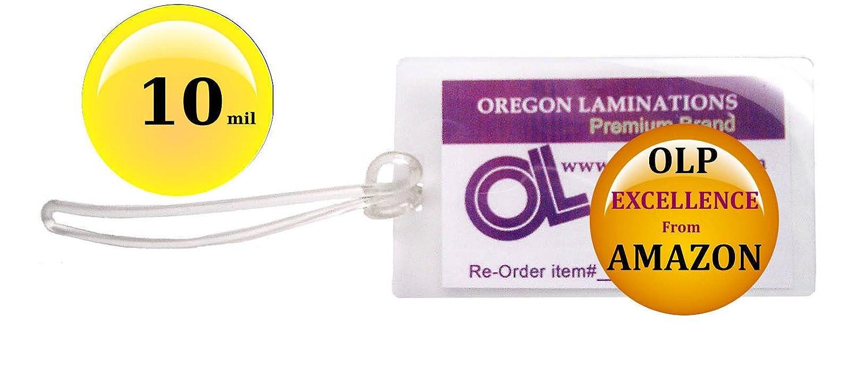 QTY 100 de cada, 10 mil equipaje etiqueta plastificar bucles de & cm, 2 - 1/2 x 4 - 1/4): Amazon.es: Oficina y papelería