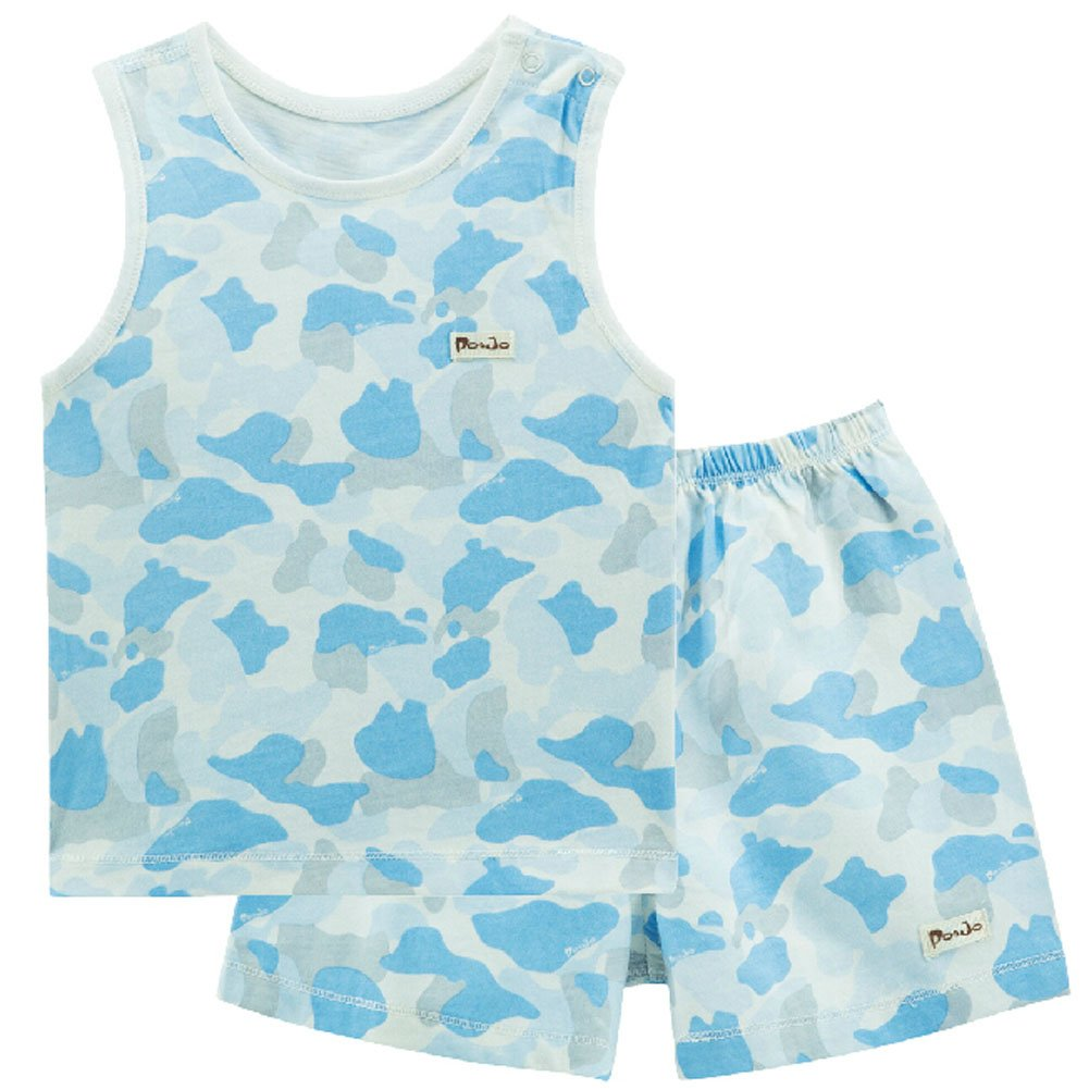 Blue Infant Vest& Shorts 2 Pieces Baby Toddler Underwear Set Printing 6-9M Blancho Bedding