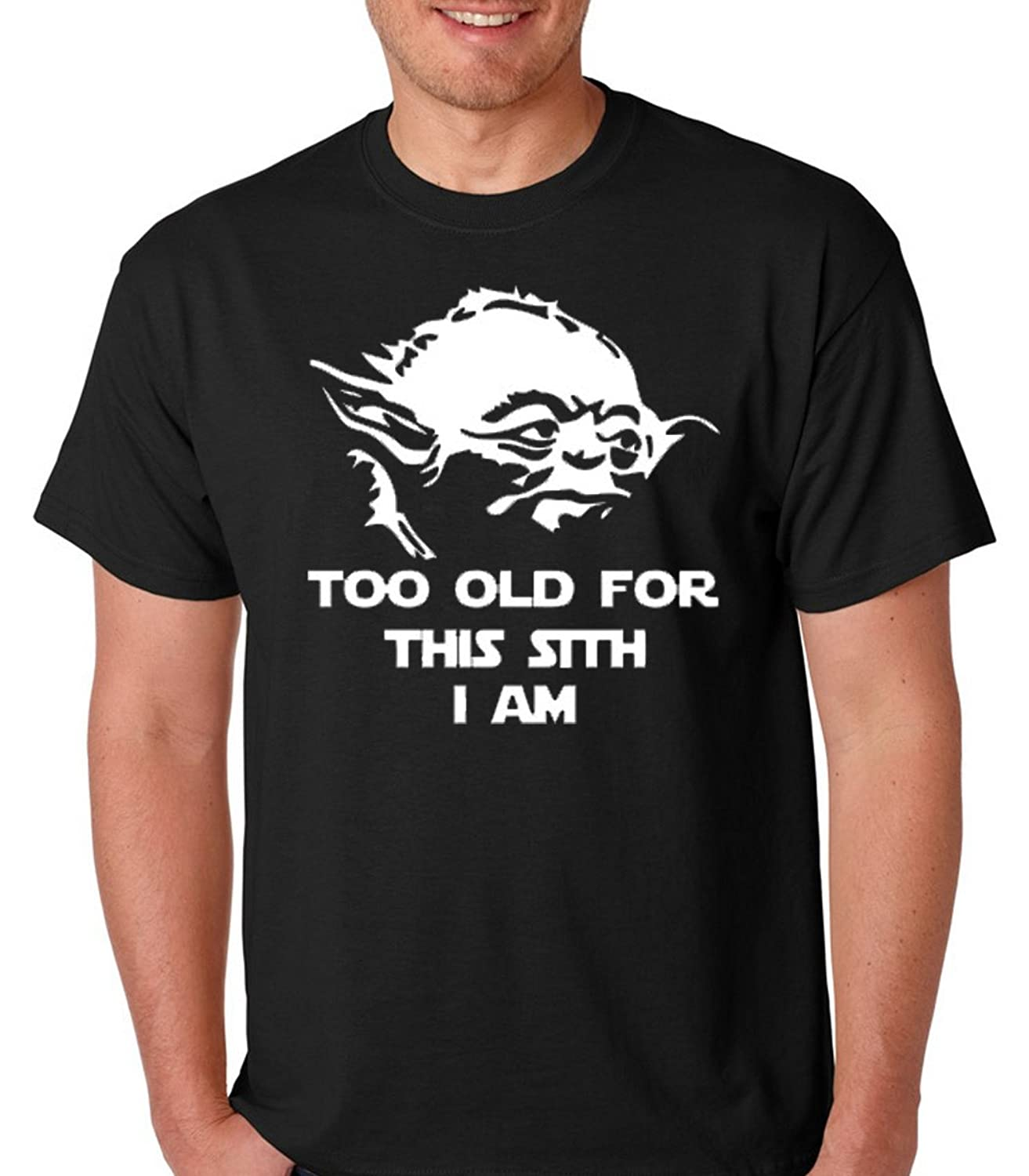 Amazon com: Raw T-Shirt's Yoda Too Old For This Sith-Funny Jedi Yoda