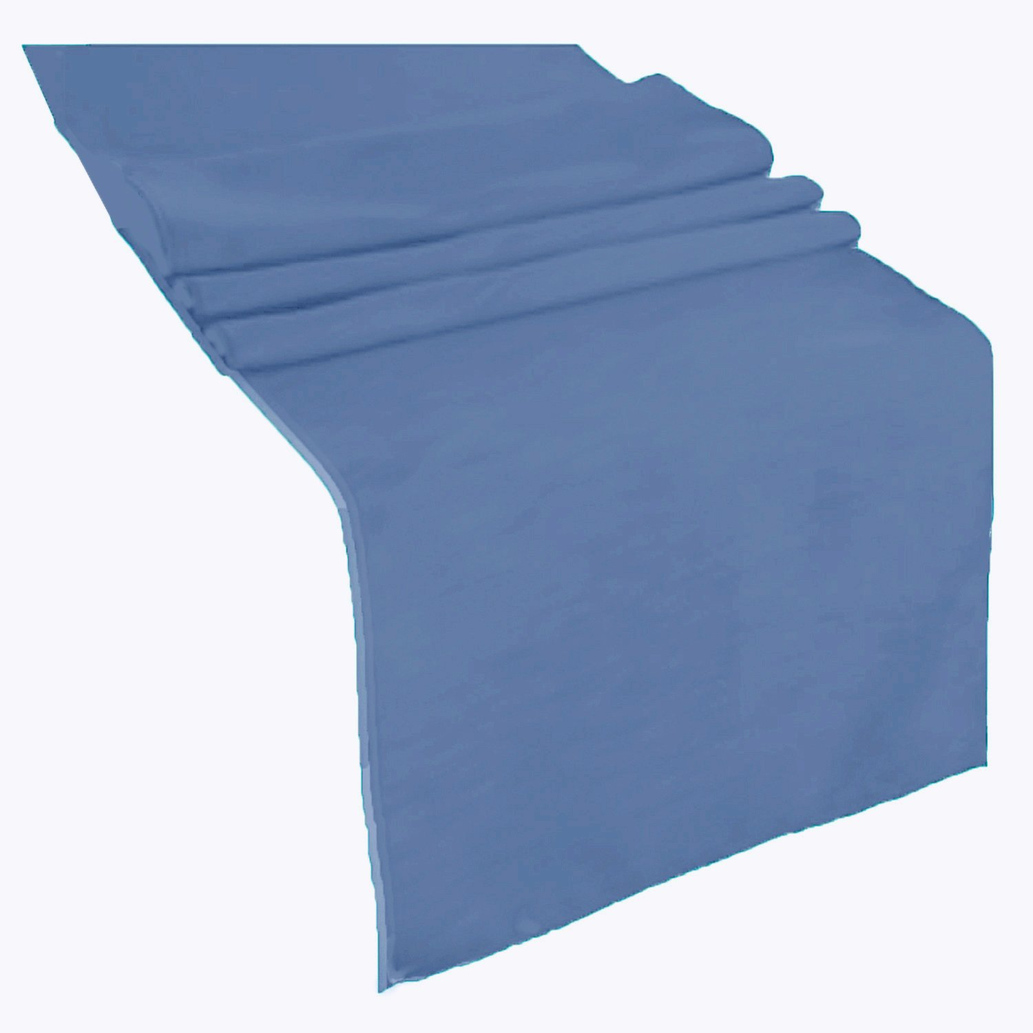 Runner Linens Factory Runner Polyester 12x72 Inches By (Steel Blue) by Runner Linens Factory