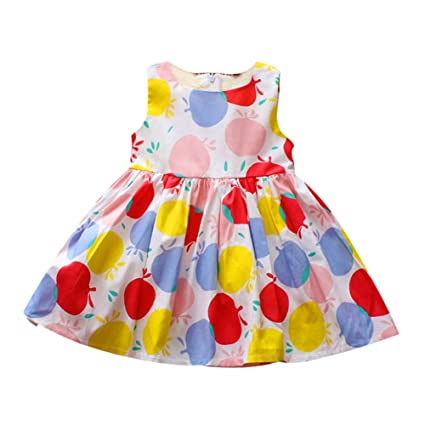 Vestido de niña sin mangas Círculo colorido Impreso Outwear ...