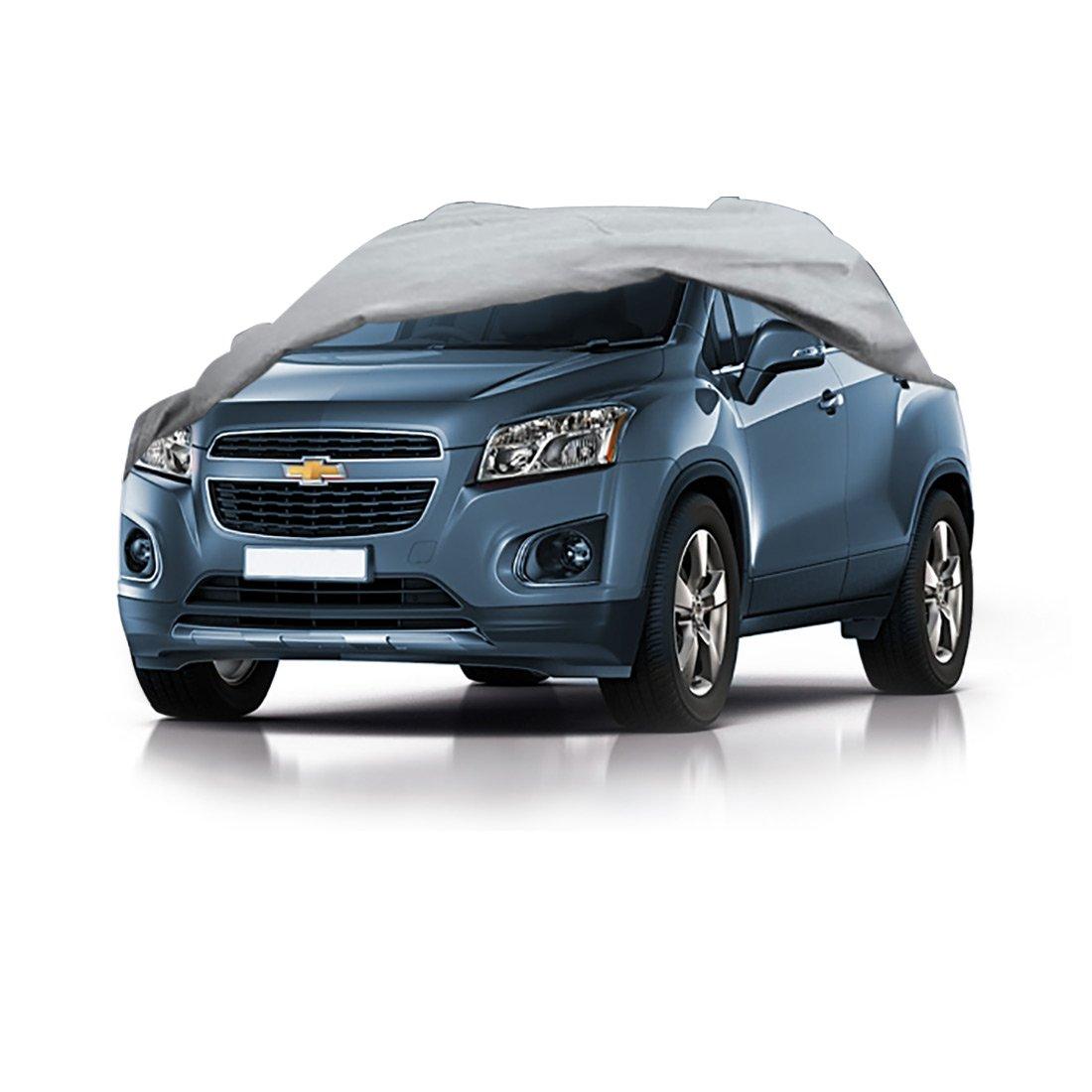 Colore : Silver, Dimensioni : 2013 Car Cover Ford ECOSPORT Coprimoto Battente Ala Speciale SUV Ispessimento Parasole antisoffio Parasole copriauto