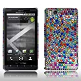 Cellularvilla (Trademark) Motorola Droid X2 X Mb810 Multi Color Dots Design Diamond Hard Back Case Cover