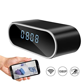 2e6a4624740 Wifi Hidden Alarm Clock Spy Camera
