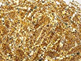 Pack Of 1, Metallic Gold Crinkle Cut Paper Shred (Spring Fill / Zig Fill) 1/8'' wide 10 lb Made In USA
