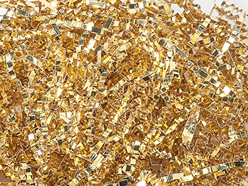Crinkel Cut Gift Shred Filler - 10 LB - Metallic Gold by Nashville Wraps