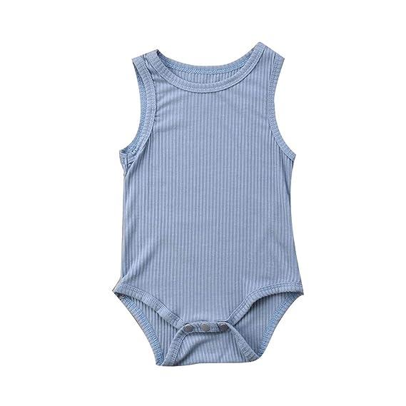 Sylar Peleles Verano Sin Mangas Color sólido Primavera Bebé Niño Niña Algodón Conjunto Recién Infantil Pijamas