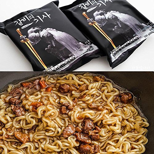 The knight of ribs / Ribs Flavor Oriental Soy Sauce Premium Instant Noodles Ramyun Ramen Noodles Soup Korean Original New (1 Pack)