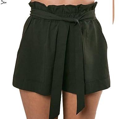 ba8f14800f4be Amazon.com: Women Shorts Sexy High Waist Crepe Hot Summer Casual ...