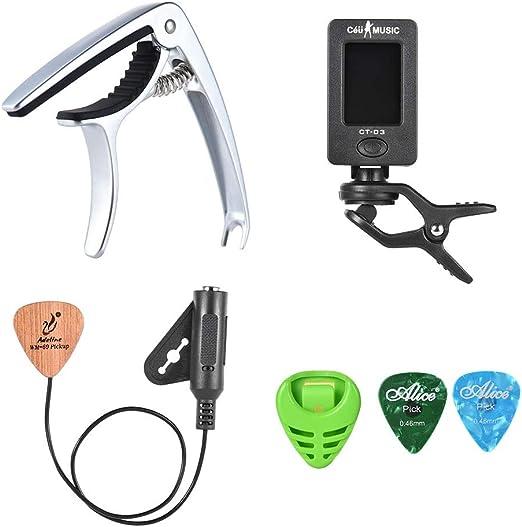 Compra EasyBuying Kit de Accesorios para Guitarra acústica con ...