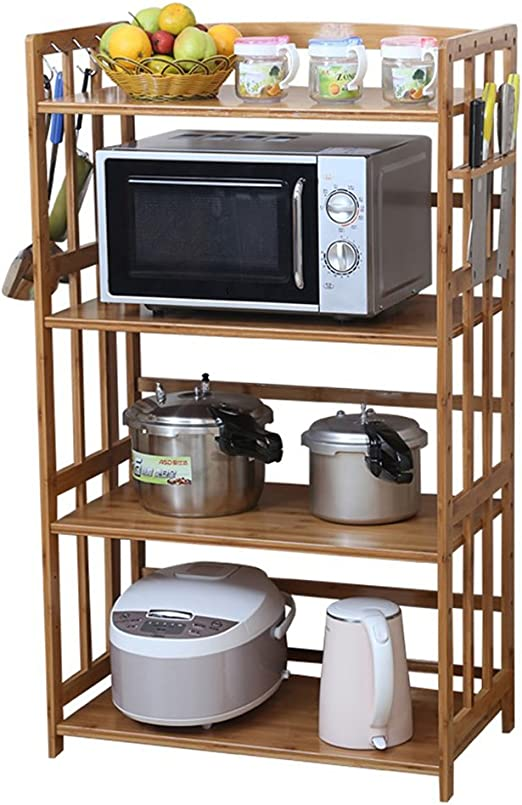 CCJW Cocina Microondas Horno Estante Soporte Almacenamiento ...