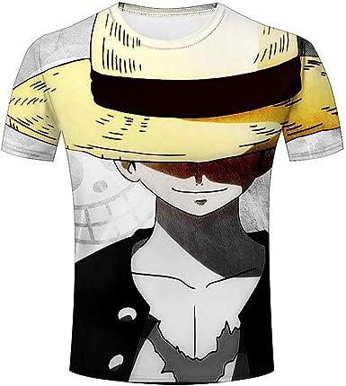 Hombre 3D Graphic One Piece Luffy Character Funny Impreso Camisetas Manga Corta Tees Top Camisa: Amazon.es: Ropa y accesorios