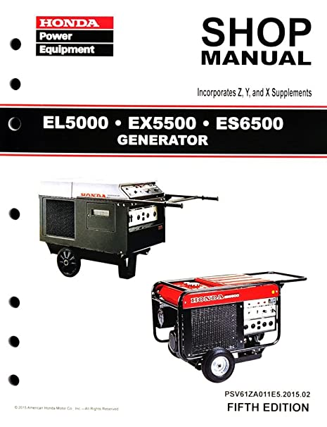 amazon com honda el5000 es6500 ex5500 generator service repair rh amazon com honda es 6500 generator manual honda generator es6500 owner's manual