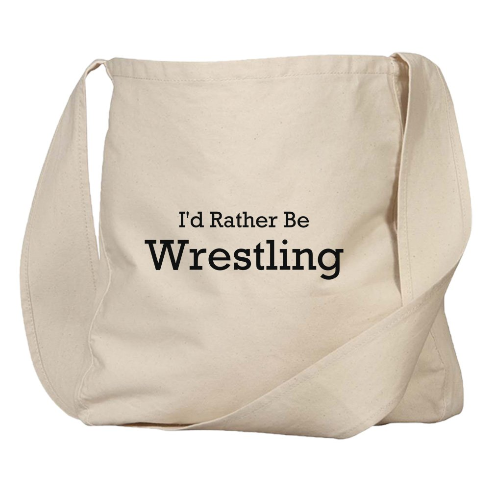 Market Bag Organic Cotton Canvas I'D Rather Be Wrestling By Style In Print