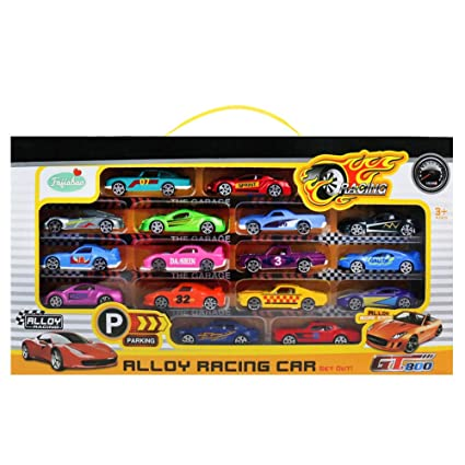 Die Cast Cars Mini Racers Toys Metal Model Vehicle 16pcs Gift Pack Small Assorted Car Sets For Boys Girls Toddlers Kids Children Cool Party Favor Cake
