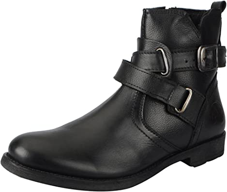 FAUSTO Men's Leather Boots Men's Boots at amazon