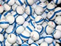 100 Premium Assorted Blue Striped White Range Practice Golf Balls - Top Quality