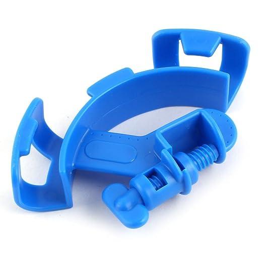Amazon.com : eDealMax acuario plástico del tanque de pescados de filtración de agua tubo de soporte del tubo de la manguera de filtro Azul : Pet Supplies
