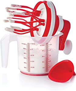 NewTupperware Whip N Mix Chef 5¼-cup/1.25L Mixer Red/White