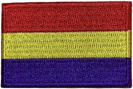 Gemelolandia | Parche Bordado Termoadhesivo de la Bandera de la II República Española 5cm | Muy Adherentes | Patch Stickers Para Decorar Tu Ropa | Fáciles de Poner: Amazon.es: Ropa y accesorios
