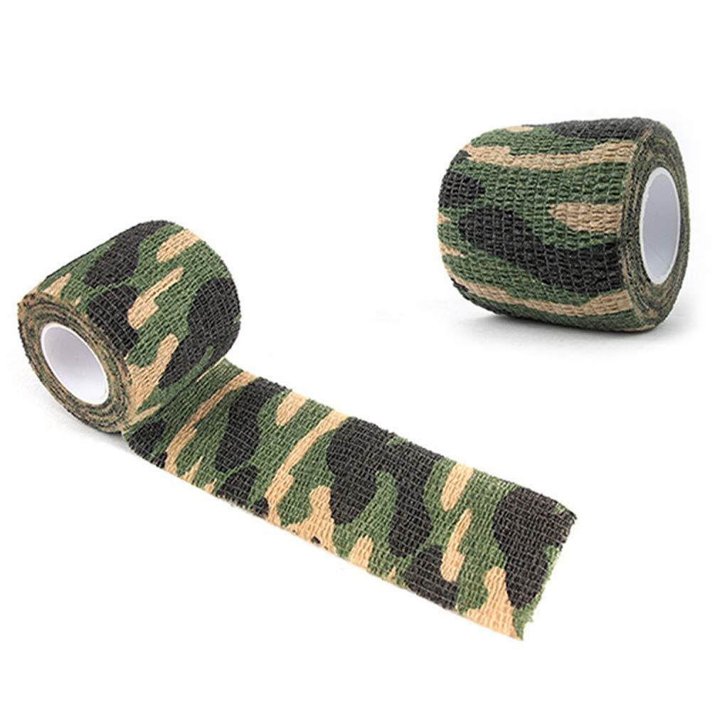 PoeHXtyy Outdoor Camouflage non-woven bendaggio elastico autoadesivo camuffamento impermeabile multi-funzionale bendaggio