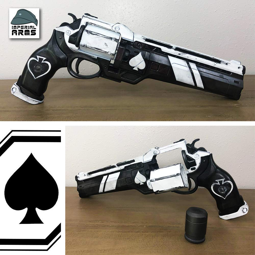 Safe Does Not Shoot Custom Designed Cayde-6 Ace of Spades Exotic Hand Cannon Prop With Functioning Ammo Cylinder