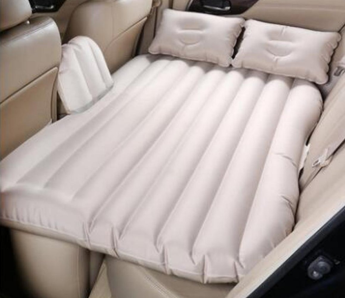 ERHANG Luftmatratzen Auto-Bett-SUV Rear Seat Aufblasbares Bett-Außenreisebett Camping,Beige
