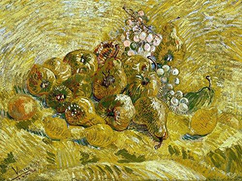 Still Life Fruits Quince Lemons Pears and Grapes by Vincent Van Gogh Accent Tile Mural Kitchen Bathroom Wall Backsplash Behind Stove Range Sink Splashback One Tile 10