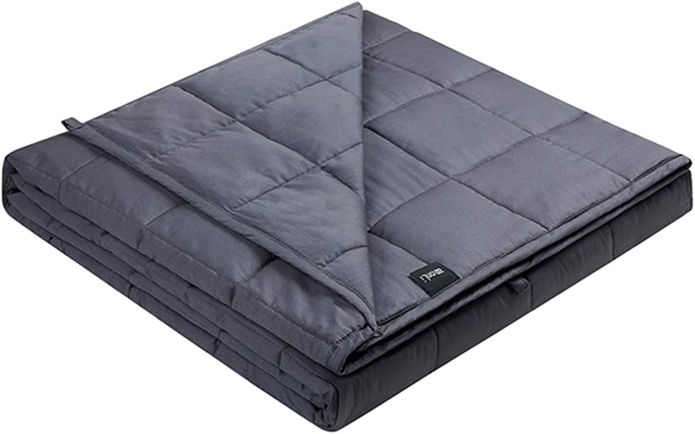 ZonLi Adults Weighted Blanket 20 lbs(60''x80'', Grey, Queen Size), Cooling Weighted Blanket for Adult, 100% Cotton Material with Glass Beads: Home & Kitchen