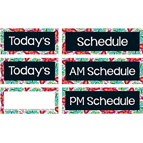 Really Good Stuff 163240 Classroom Scheduling Pocket Chart, Black