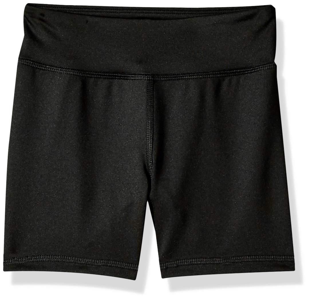 Amazon Essentials Big Girls' Stretch Active Short, Black, M by Amazon Essentials