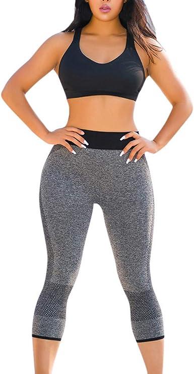 cinnamou Pantalon Mujer, Fitness Pantalones Levanta Cola Cintura ...