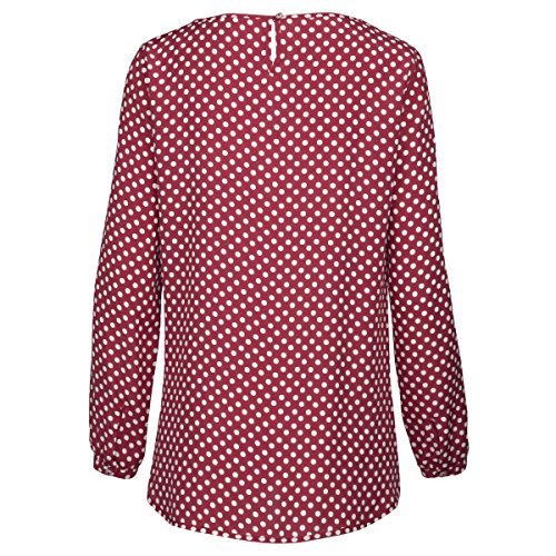 Seidensticker, Blusa para Mujer Mehrfarbig (Bordeaux 46)